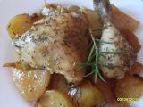 Kuře na rozmarýnu, pečené s bramborami recept