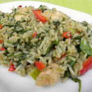 Rýžová směs s kuřetem a špenátem recept