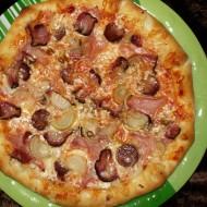Salámová pizza z listového těsta recept