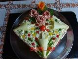 Slaný dort s nivou recept