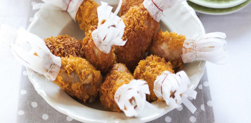 Obalované kuřecí paličky