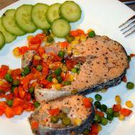 Losos na zelenině v alobalu recept