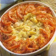 Zapečené macaroni s krevetami recept
