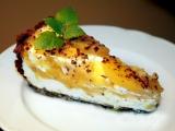 Výborný nepečený broskovo-tvarohový dort recept