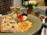Snadný losos s brambory recept