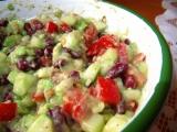 Fazolový salát s avokádem recept
