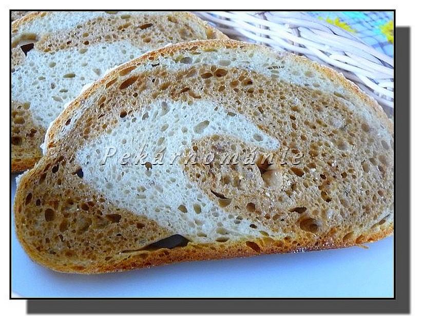 Dvojbarevný 1-2-3 chleba recept