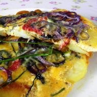 Vaječná omeleta s bramborem a klobásou recept