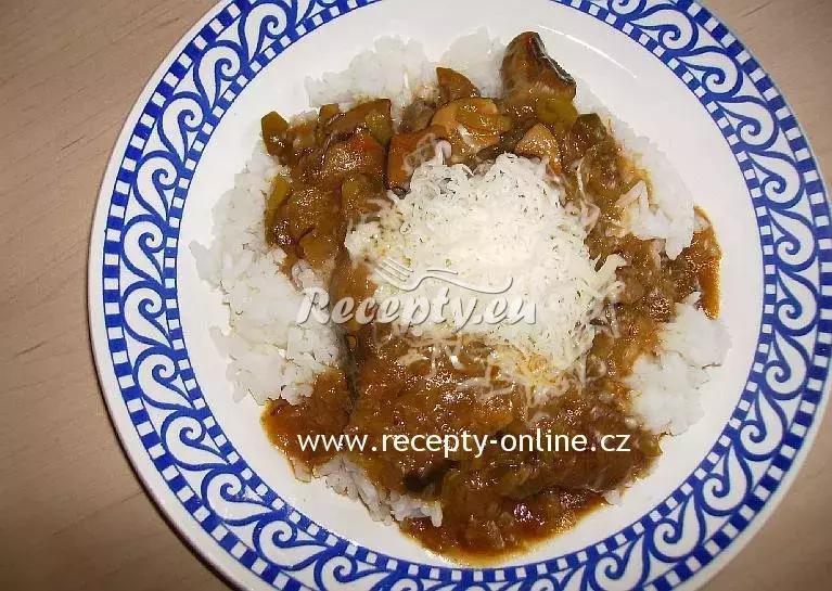 Houbový guláš s rýží recept  houbové pokrmy