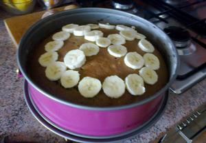 Banánový dortík s kakaem