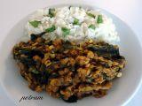 Čočkovo-špenátové kari po indicku recept