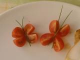 Motýlci z cherry rajčátek recept