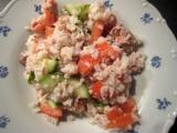 Rýžový salát s tuňákem recept