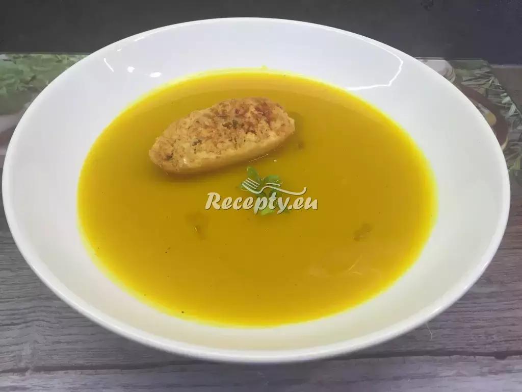 Krémová polévka z dýně Hokaido recept  polévky