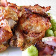 Kuřecí kousky zapečené s kapustičkami a slaninou recept