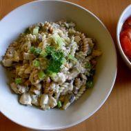 Kuře na houbách s těstovinami recept
