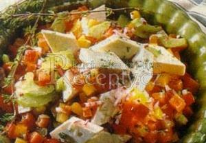 Paprikový salát s ovčím sýrem