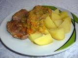 Vepřová plec v pórku s mrkví recept