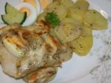 Pečená ryba ve smetanové omáčce recept