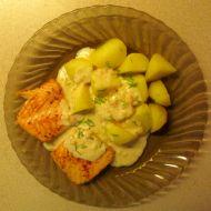 Filet z lososa se smetanovou omáčkou recept