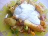 Brambory s česnekovou omáčkou recept