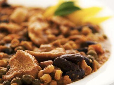 Recept Dušené kuře s fazolkami