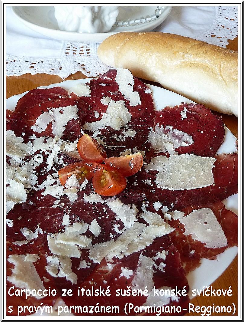 Carpaccio z italské sušené koňské svíčkové recept