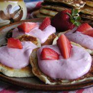 Lívanečky s jahodovým tvarohem recept
