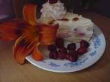 Nepečený tvarohový dort s malinami recept