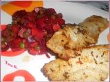 Filet z mořské štiky na másle se salátem z červené řepy recept ...