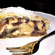 Jablkovo-makový štrúdl s opraženými ořechy recept
