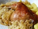 Kuře na zelí recept