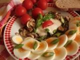 Vaječný salát se žampióny recept