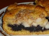Křehký makový koláč s jablky recept