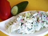 Zeleninový salát s kysanou smetanou recept