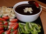 Čokoládové fondue recept
