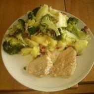 Zapečené brambory s mletým masem a brokolicí recept