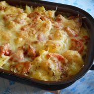 Zapečené brambory se sýrovou omáčkou na bazalce recept  Vareni ...