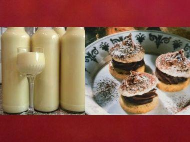 Vánoční likér a čokoládové bezé