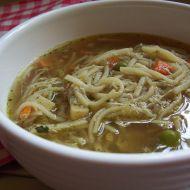 Netradiční nudlová polévka recept