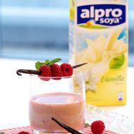 Vanilkový koktejl s malinovým špízem recept
