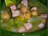 Pórková polévka s uzeným a cizrnou recept