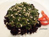 Černá rýže se špenátem a semínky recept