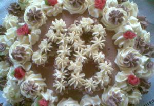 Vanilkový a kakaový krém na dorty, řezy, věnečky