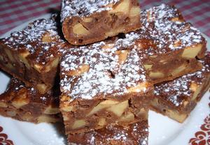 Jablečný povidlovník  mokrý koláč