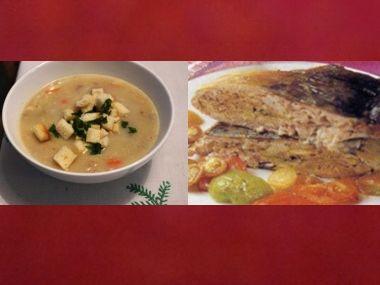Sváteční oběd 27  Kapří polévka a Nadívaný kapr