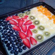 Piškotový dezert s ovocem a želé recept