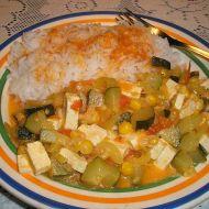 Dušená cuketa se sýrem tofu recept