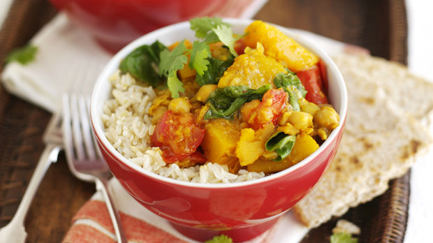Jednoduché dýňové curry