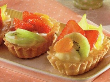 Tartaletky s ovocem  bio